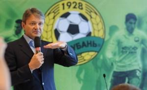 Ткачев дал напутствие ФК «Кубань» на дальнейшие победы в Лиге Европы