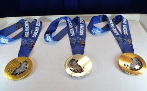 Медали победителей Олимпийских Игр 2014 увидят в 12 городах России