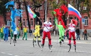 Спортсмены Краснодара приняли участие в акции по поддержке Олимпийских игр