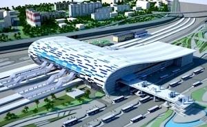 На открытии нового вокзала