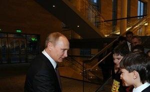 Путин посетил репетицию Сводного детского хора России