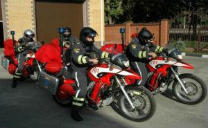 Краснодарские спасатели-мотоциклисты осуществляют работу на сочинской Олимпиаде