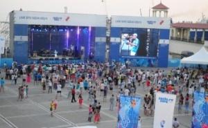 В спортивной зарядке приняли участие воспитанники краснодарских детских спортивных учреждений