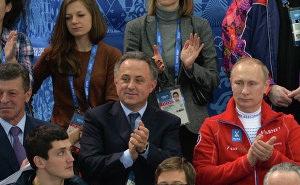 Владимир Путин присутствовал лично на выступлениях российских фигуристов