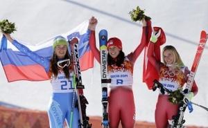 Две горнолыжницы завоевали золото в одной дисциплине