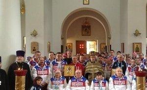 В православном храме на Красной Поляне совершили молебен для паралимпийцев