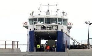 Транспортные паромы в порту