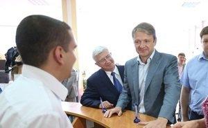 Александр Ткачёв с Владимиром Евлановым проверили работу Прикубанского МФЦ