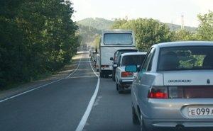 Трассы Кубани в летний период не могут справиться с турпотоком