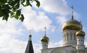 Сегодня прошло торжественное освящение закладного камня храма Св. апостола Андрея Первозванного