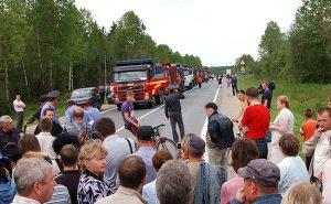 Более 150 человек вышли сегодня в Сочи против застройки берега реки