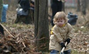 В Рождественском парке Краснодара состоялся массовый субботник
