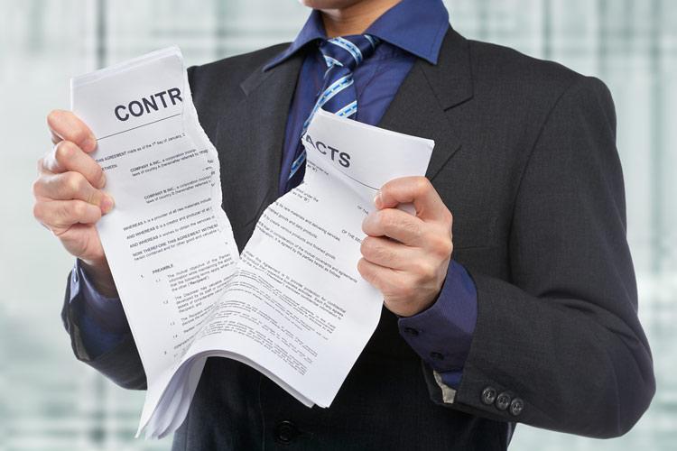 Как расторгнуть договор в суде