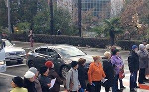 Пенсионеры Кубани вышли на акции протеста
