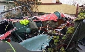 На частный дом в Сочи упал вертолёт. Есть жертвы