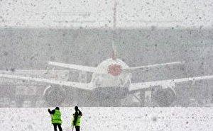 На Кубани из-за снегопада обесточены населённые пункты и задержаны авиарейсы