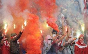 Фанаты «Спартака» учинили беспорядки в центре Краснодара