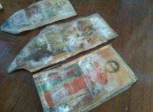На Кубани во время ремонта сельской школы были обнаружены древние иконы