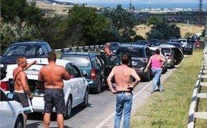 Приехали: в первый же выходной туристы встали в пробках к Крымскому мосту