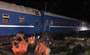 Появились видеокадры ДТП с поездом на Кубани