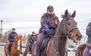 Без конной полиции не обходится в Краснодаре ни один футбольный матч