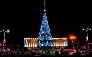 Новый год на Театральной площади Краснодара встретили 20 тысяч человек