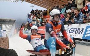 «Золото» в эстафете этапа Кубка мира по санному спорту взяли россияне