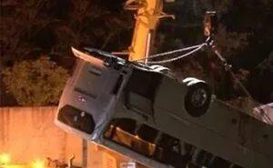 Под Новороссийском автобус с пассажирами и внедорожник упали в обрыв. Есть жертвы