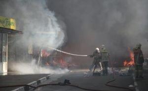 В Геленджике сгорел Центральный рынок