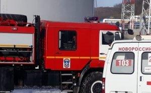 Под Новороссийском произошло возгорание нефтебазы
