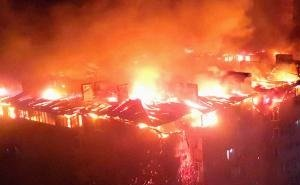 Ночью в Краснодаре сгорела многоэтажка