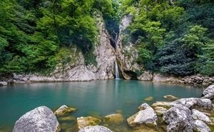 В Сочи полностью высохли Агурские водопады