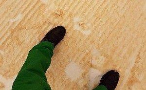 На Кубани выпал жёлтый снег