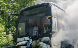 На Кубани попал в ДТП автобус с детьми